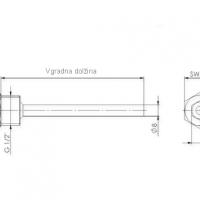 Tauchhulsen aus Messing mit Druckschraube ANDTHMS2_2