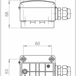 Modbus Anlegetemperaturfühler Gehäuse ANDANTF1-MD 2