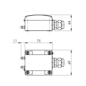 Modbus Differenzdruckmessumformer ANDDDMU-MD 2
