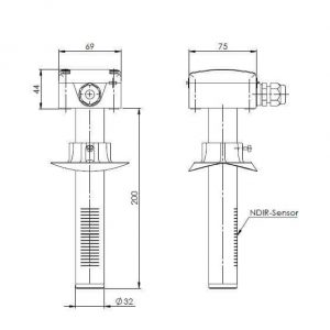 Modbus Kanalfühler zur Kohlendioxidmessung ANDKACO2-MD 2
