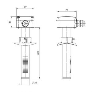 Modbus Kanalluftqualitätsfühler ANDKALQ-MD 2