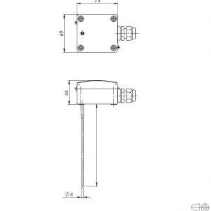 Modbus Mittelwertkanaltemperaturfühler ANDMWTF-MD 3