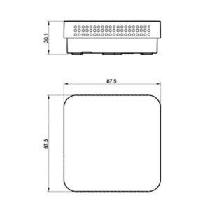 Modbus Raumkombifühler für relative, absolute Feuchte und Temperatur ANDRFFTR-MD-S 2