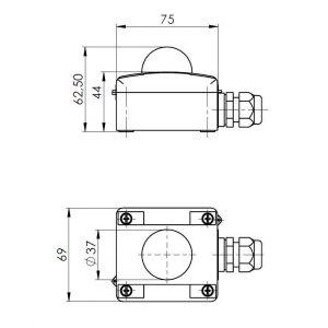 Modbus Strahlungsfühler Aussenbereich ANDASTF-MD 2