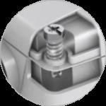 Bajonettverschraubung lässt sich leicht und einfach durch 1/4 Drehung öffnen und schließen