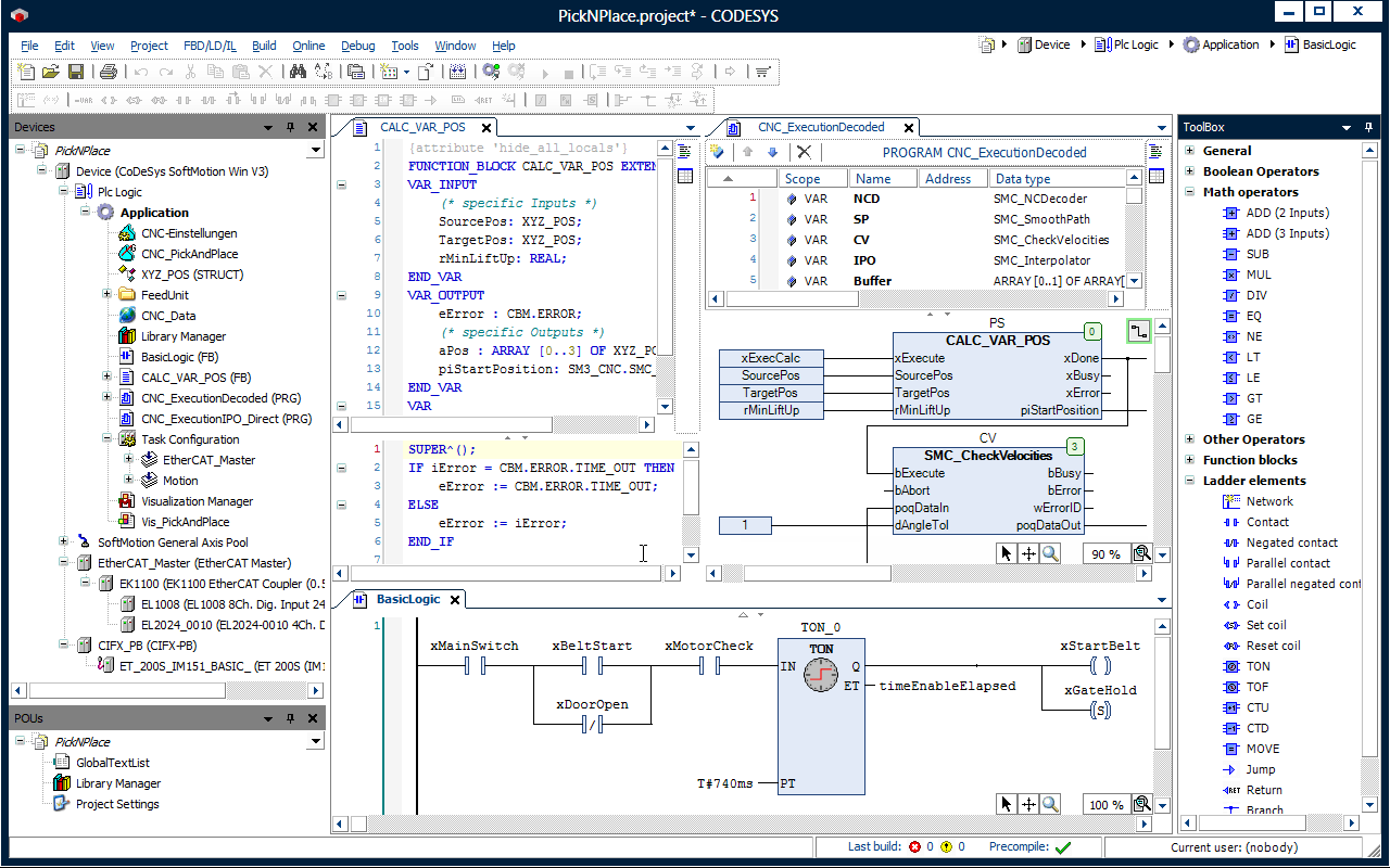 Codesys Arbeitsoberflache Der Entwicklungsumgebung Reference Screenshot Programming on Plc Block Diagram