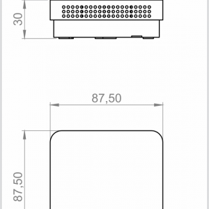 RAUMTEMPERATURFUHLER-AUFPUTZ-ANDRTF3 MU-2
