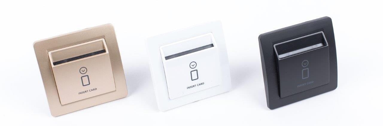 Energiesparschalter-Hotel-RFID-schwarz-weiss-gold
