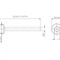 Tauchhulsen aus Edelstahl in geschweisster Ausfuhrung mit Druckschraube mit Klemmring ANDTHVA2_2