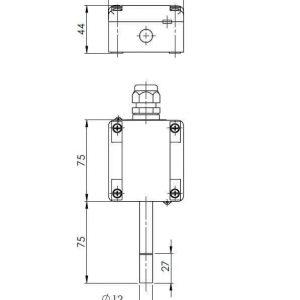 Modbus Aussenkombifühler für relative, absolute Feuchte und Temperatur ANDARFTR-MD-S 2