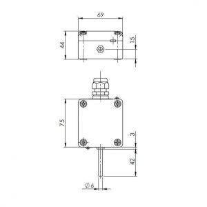Modbus Aussentemperaturfühler mit externem Fühlerrohr ANDAUTFEXT-MD 2