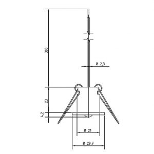 Modbus Deckeneinbautemperaturfühler ANDDEBF-MD 2