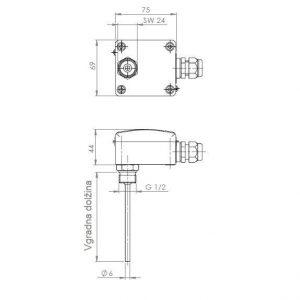 Modbus Einschraubfühler Tauchtemperaturfühler ANDENTF-MD 2