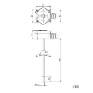 Modbus Kanalkombifühler für relative, absolute Feuchte und Temperatur ANDKFFTR-MD-S 2