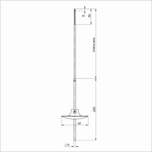 Modbus Tauchtemperaturfühler mit Silikonleitung ANDKBTFL-MD 2